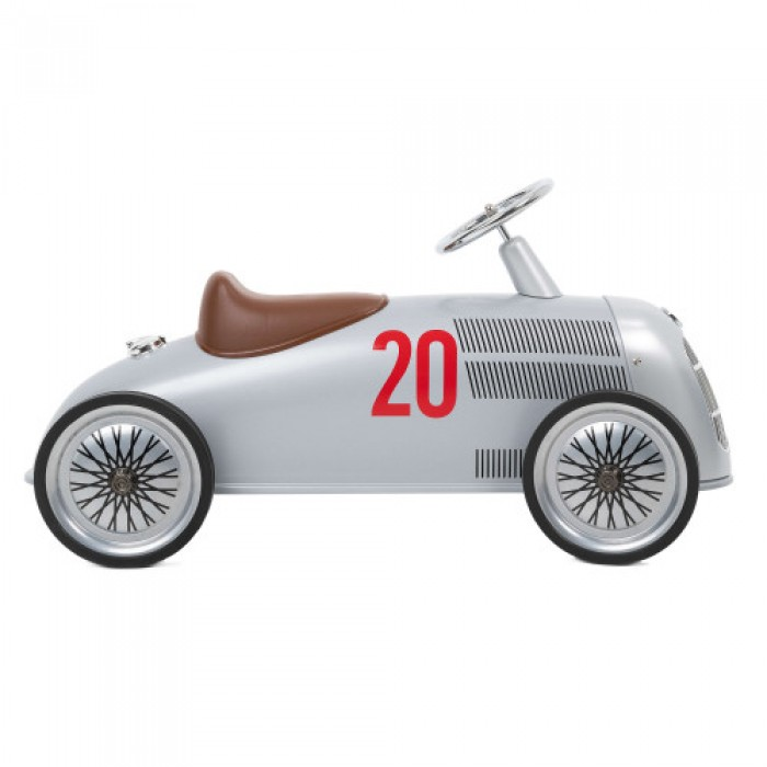 Masinuta Ride-On pentru 2-4 ani - Rider - Mercedes-Benz W 25 Silver Arrow - Baghera