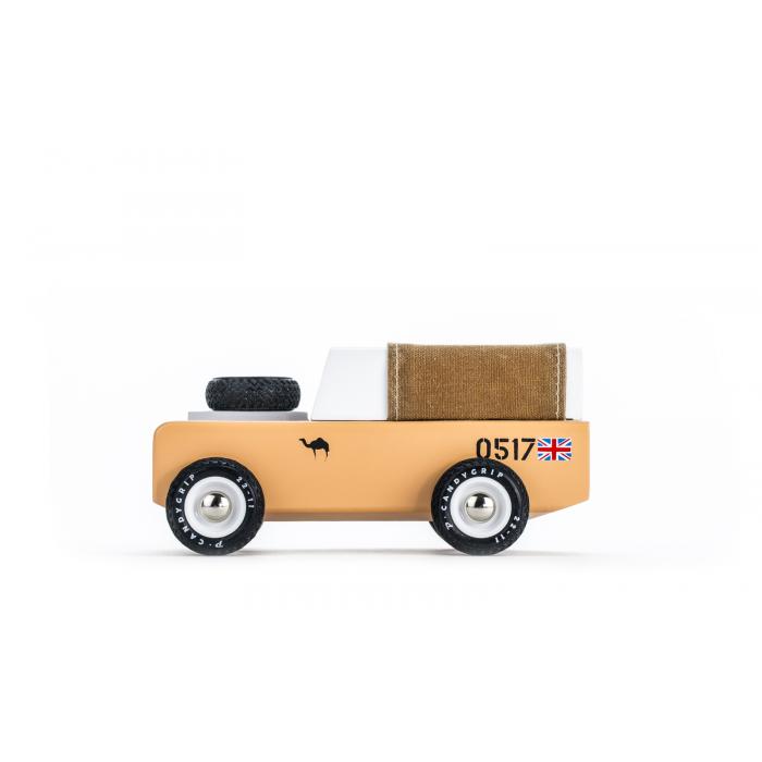 Masina de teren vintage Drifter Sahara Brown Fabric - Candylab Toys USA