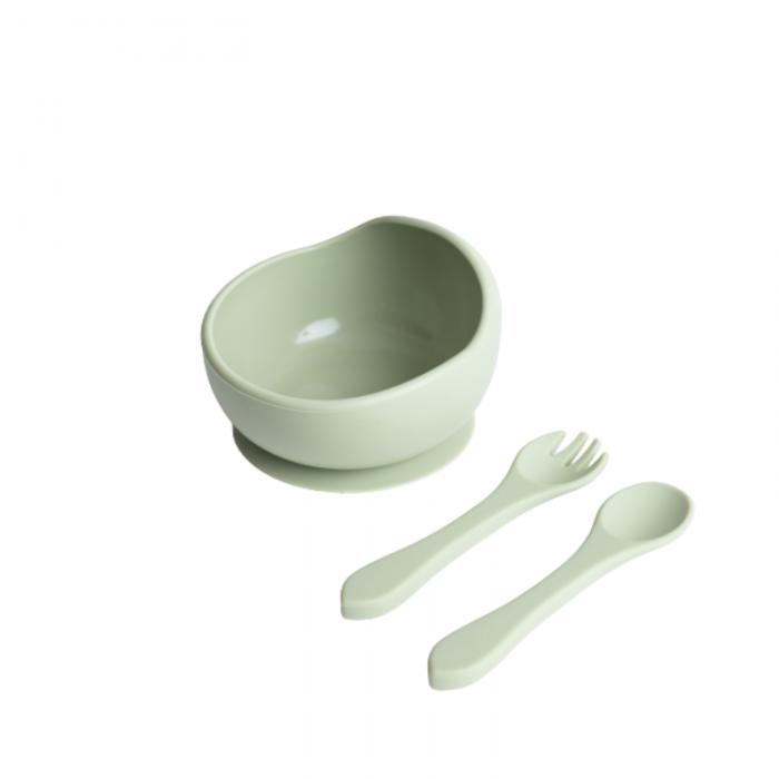 Bol din silicon pentru masa copilului - Olive