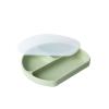 Farfurie din silicon cu 3 compartimente pentru masa copilului - Olive