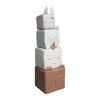 Cuburi senzoriale din bumbac organic - Animalute - Fabelab