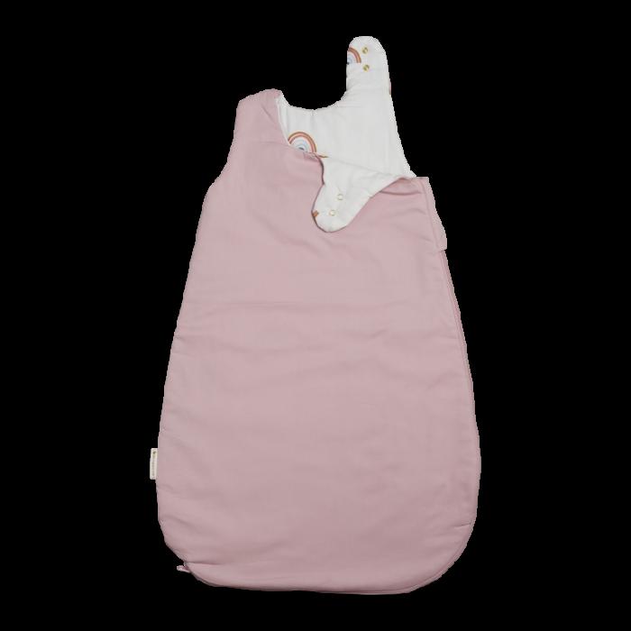 Sac de dormit cu 2 fete din bumbac organic - Roz - Fabelab