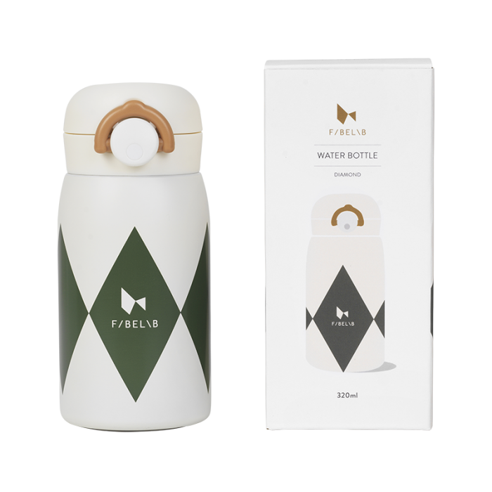 Sticla termos din otel inoxidabil - 320 ml - Olive - Fabelab