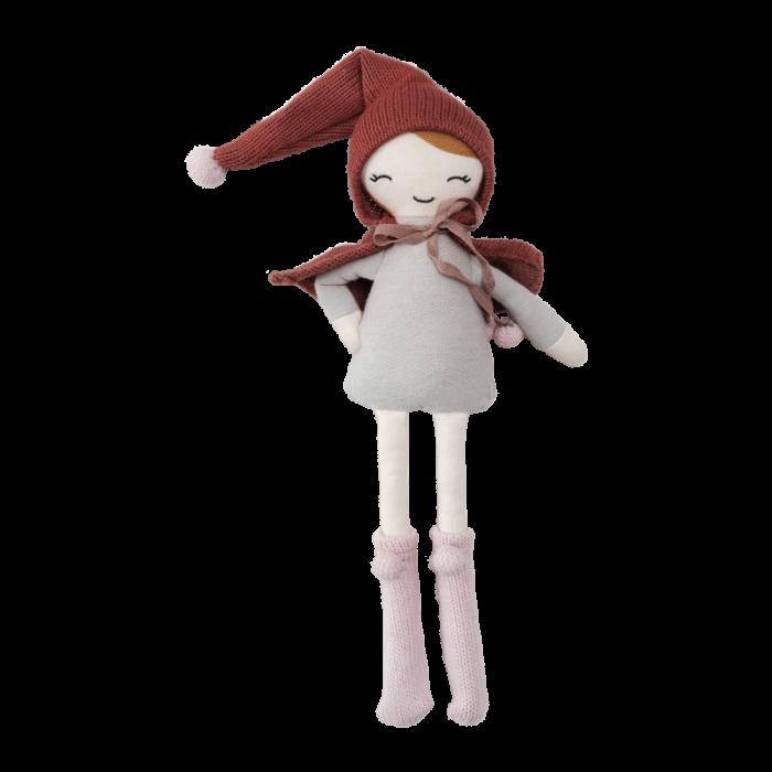 Papusa textila din bumbac organic - 30 cm - Elf Girl - Fabelab