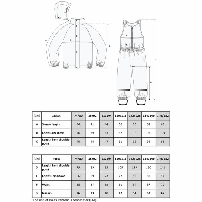 Costum intreg pentru ploaie din material reciclabil - Douglas - Sand - KULING