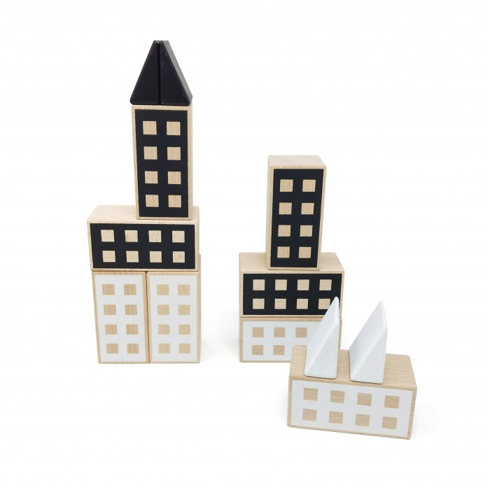 Set constructii Happy Houses - Black&White - Lubulona