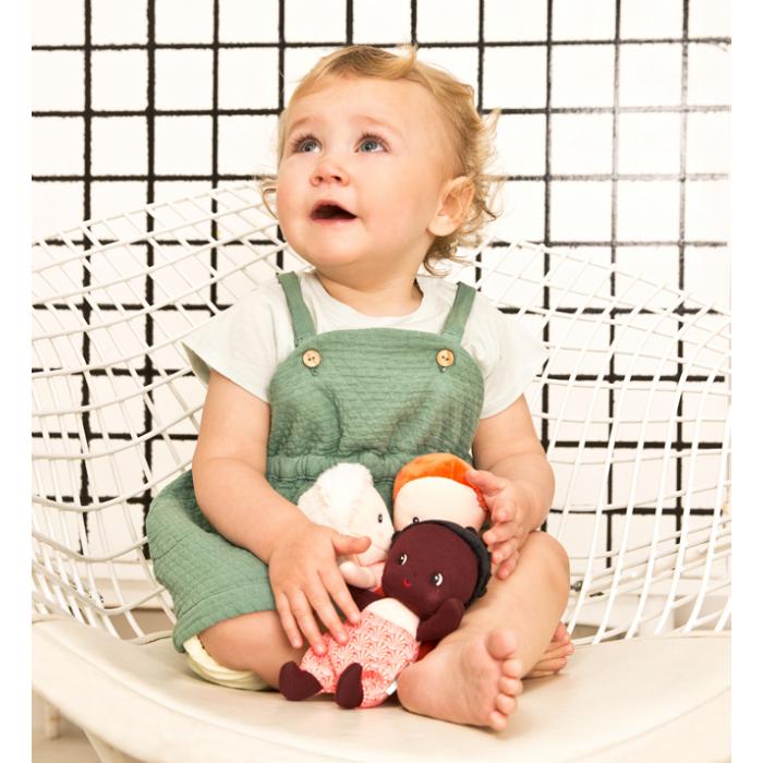 Papusa textila - Primul meu bebelus - Mila - Lilliputiens