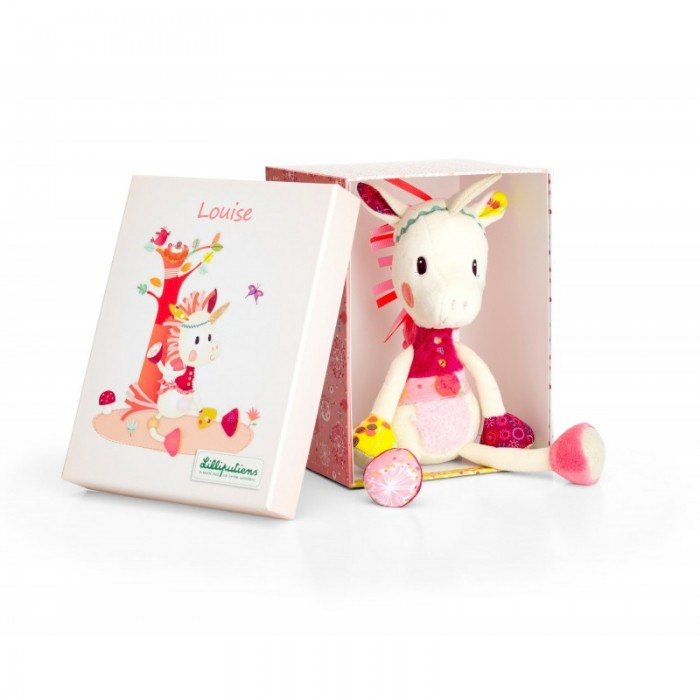 Jucarie din plus in cutie - unicornul Louise - Lilliputiens