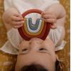 Jucarie de dentitie din silicon - Curcubeu - Little Dutch