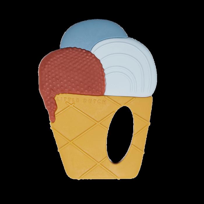 Jucarie de dentitie din silicon - Inghetata - Little Dutch