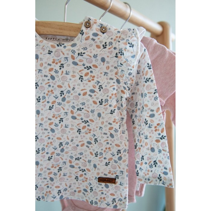 Tricou cu maneca lunga - Spring Flowers - print complet - Little Dutch