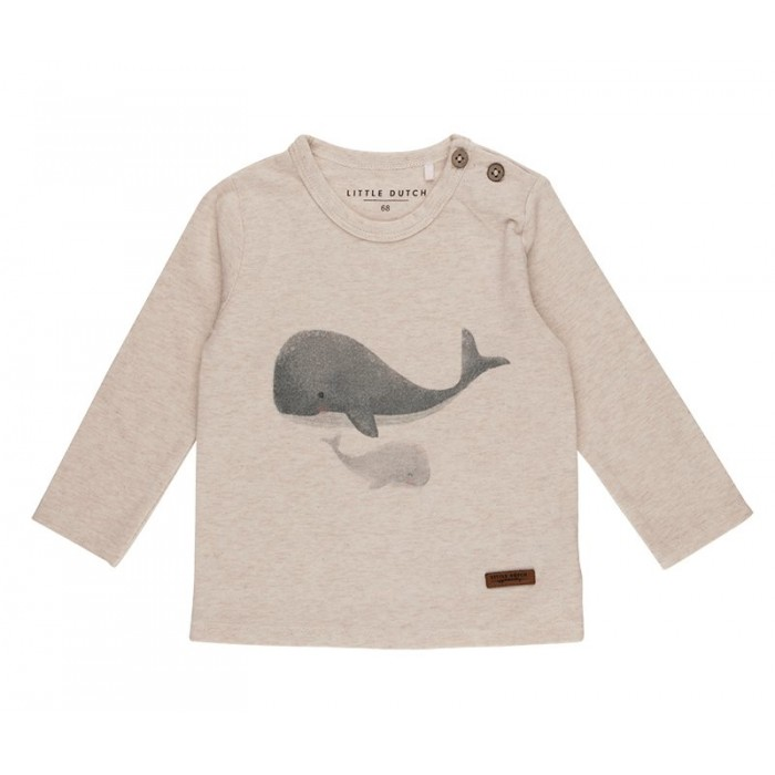 Tricou cu maneca lunga - 74 - balena - Ocean - Little Dutch