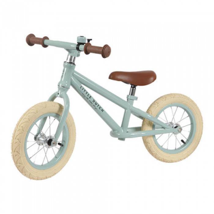 Bicicleta de echilibru fara pedale - mint - Little Dutch