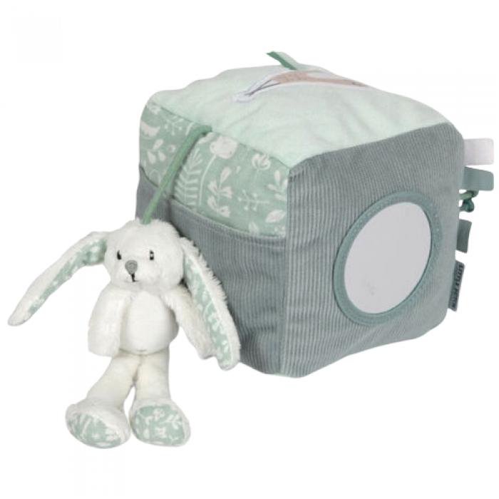 Cub soft de activitati pentru bebelusi - mint - Little Dutch