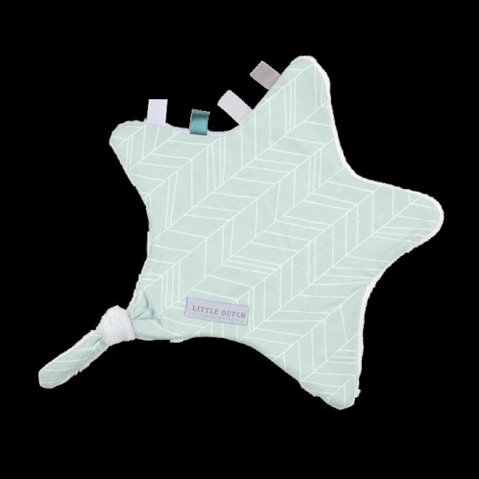 Doudou comforter pentru bebelusi - steluta - Mint Leaves - Little Dutch