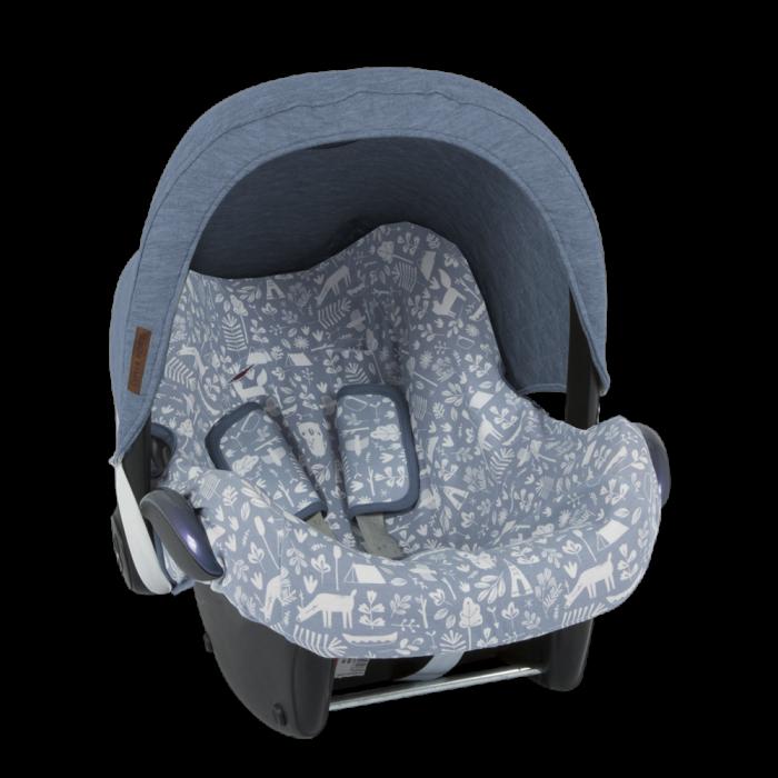 Parasolar pentru scaun auto - Albastru - Little Dutch