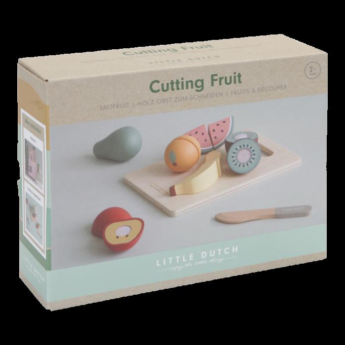 Set de fructe din lemn pentru feliat - Little Dutch
