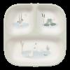Farfurie din bambus pentru masa copilului cu 3 compartimente - Little Goose - Little Dutch