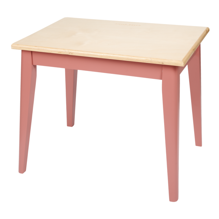Mobilier pentru camera copilului - Masuta din lemn - Roz - Little Dutch