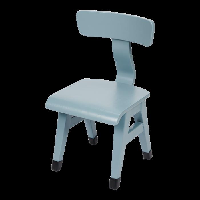 Mobilier pentru camera copilului - Scaun din lemn - Albastru - Little Dutch