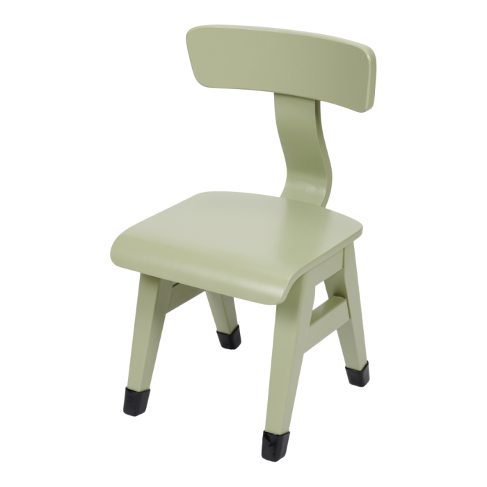 Mobilier pentru camera copilului - Scaun din lemn - Verde Oliv - Little Dutch
