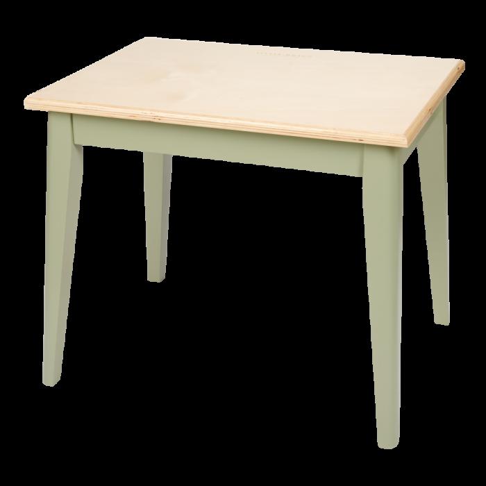 Mobilier pentru camera copilului - Masuta din lemn - Verde Oliv - Little Dutch