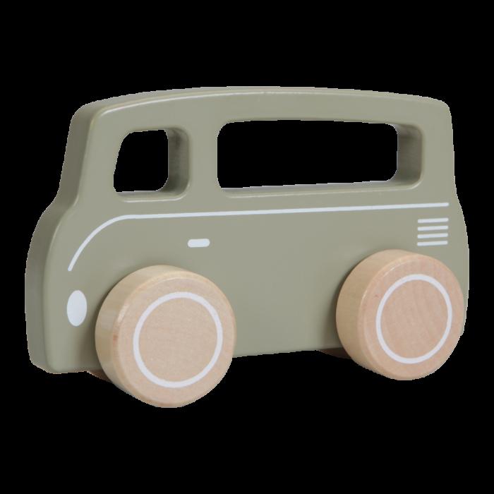 Masinuta clasica din lemn - Van - olive - Little Dutch