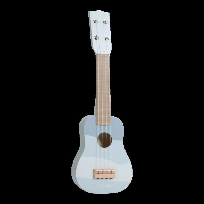 Instrument muzical - chitara din lemn - albastra - Little Dutch