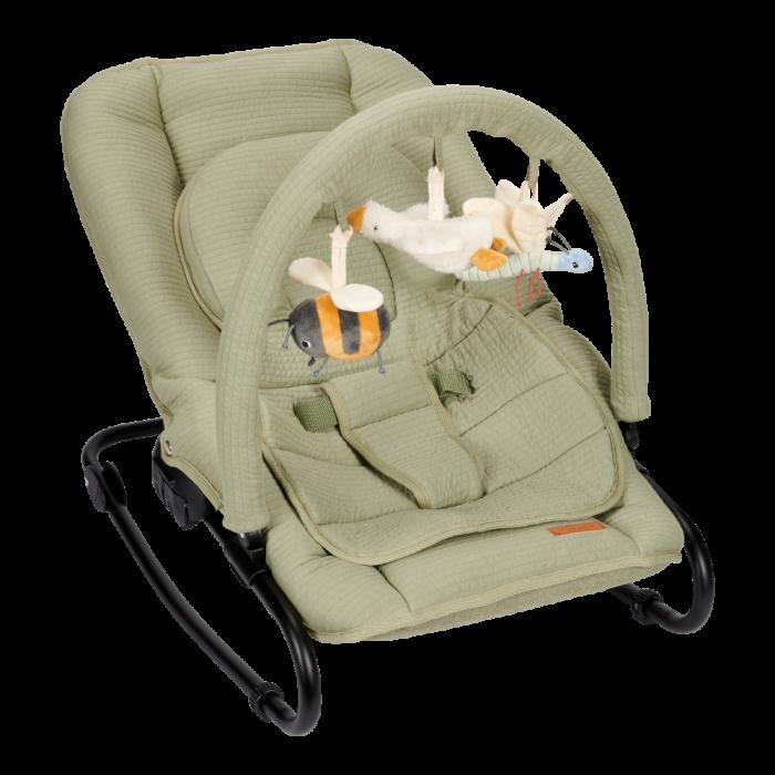 Balansoar pentru bebelusi - Verde Oliv - Little Goose - Little Dutch