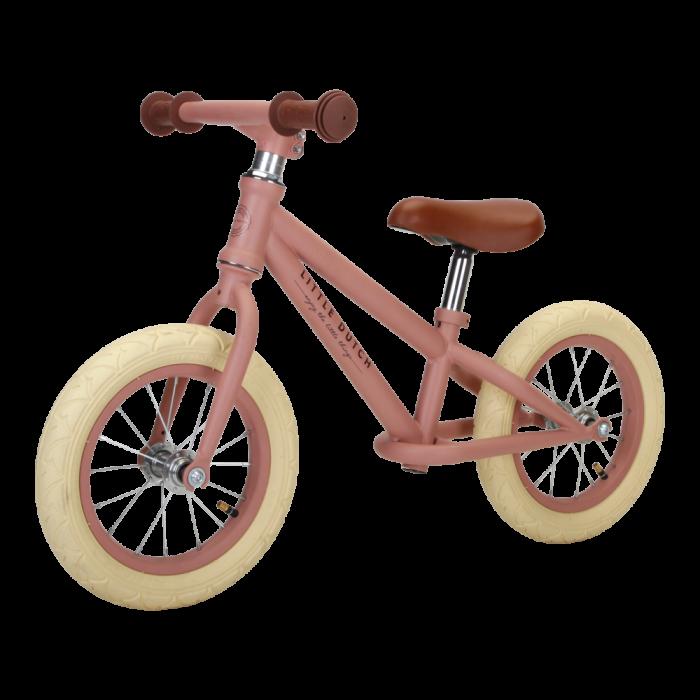 Bicicleta de echilibru fara pedale - Roz mat - Little Dutch