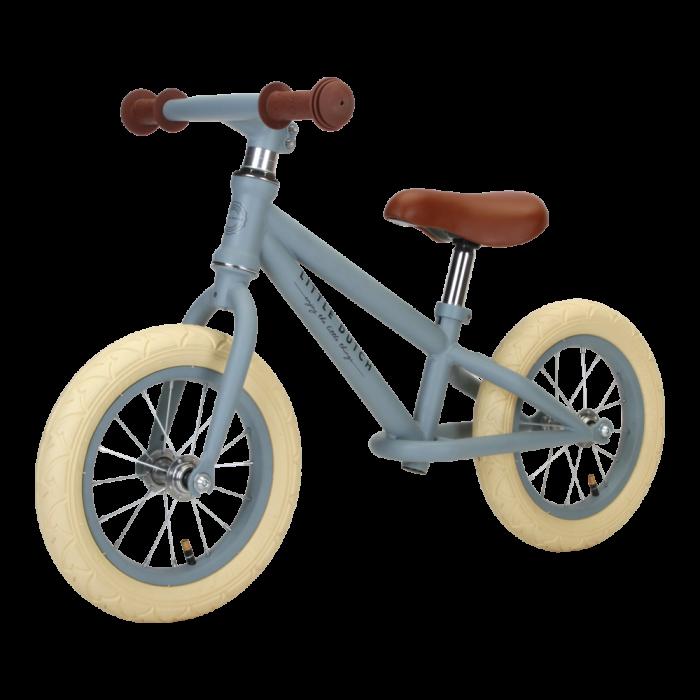 Bicicleta de echilibru fara pedale - Albastru mat - Little Dutch