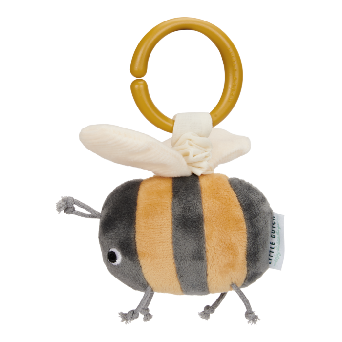 Jucarie din plus cu vibratii - albinuta - colectia Little Goose - Little Dutch