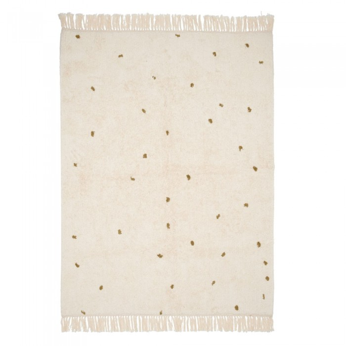 Covor - 170 x 120 cm - DOT - Pure Natural/Olive - Little Dutch