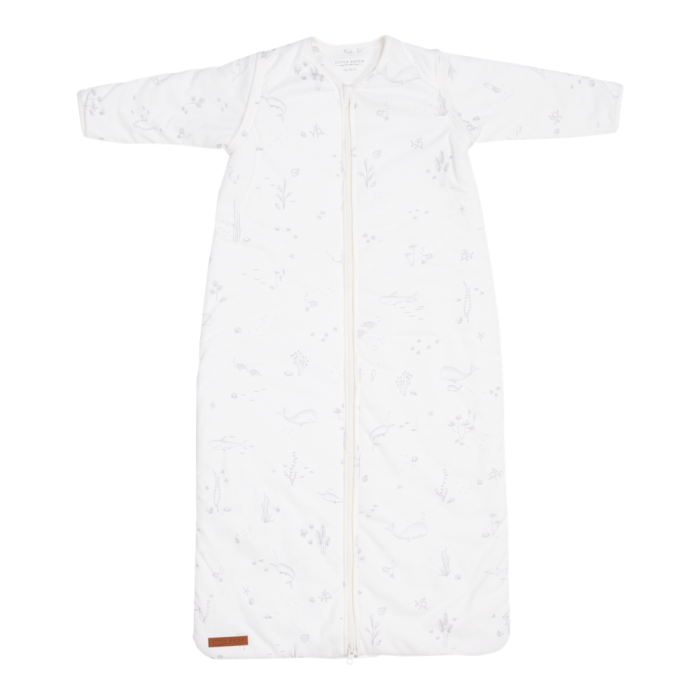 Sac de dormit cu maneci detasabile - 90 cm - Ocean White - Little Dutch