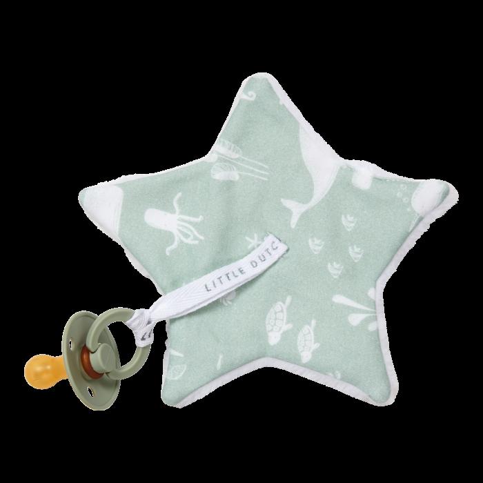 Suport pentru suzeta - steluta - Ocean Mint - Little Dutch