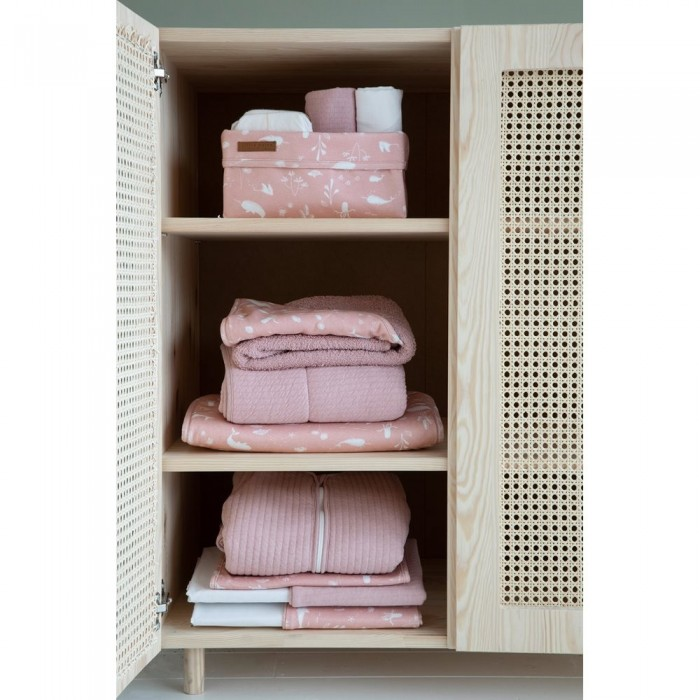 Cos de depozitare din bumbac - Ocean Pink - Little Dutch