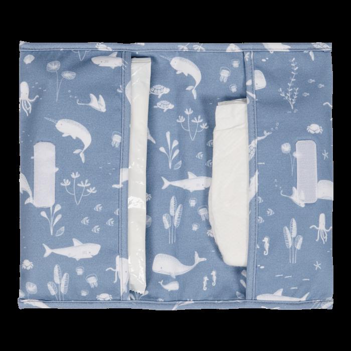 Plic pentru scutece si servetele umede - Ocean Blue - Little Dutch