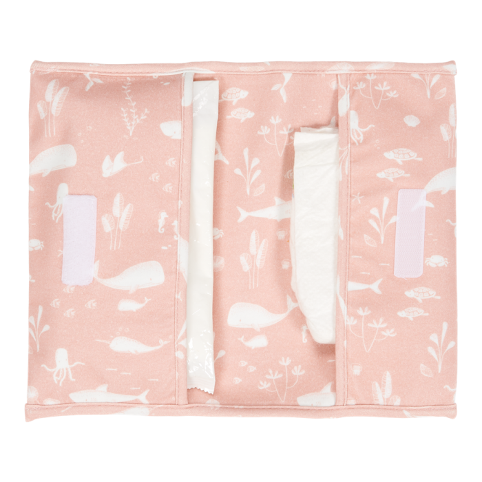 Plic pentru scutece si servetele umede - Ocean Pink - Little Dutch