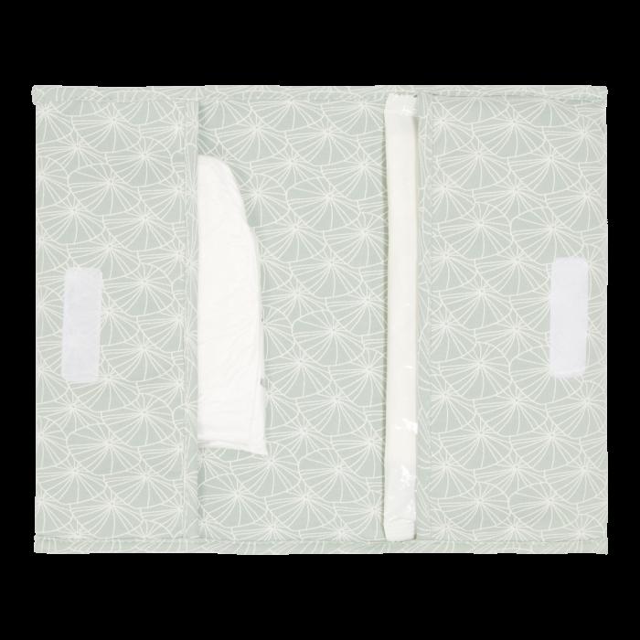 Plic pentru scutece si servetele umede - Lily Leaves Mint - Little Dutch