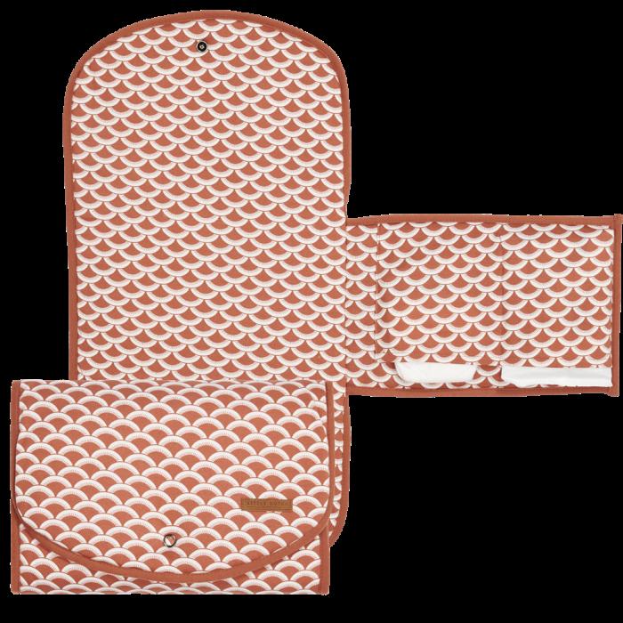 Salteluta portabila pentru schimbat scutece - Sunrise Rust - Little Dutch