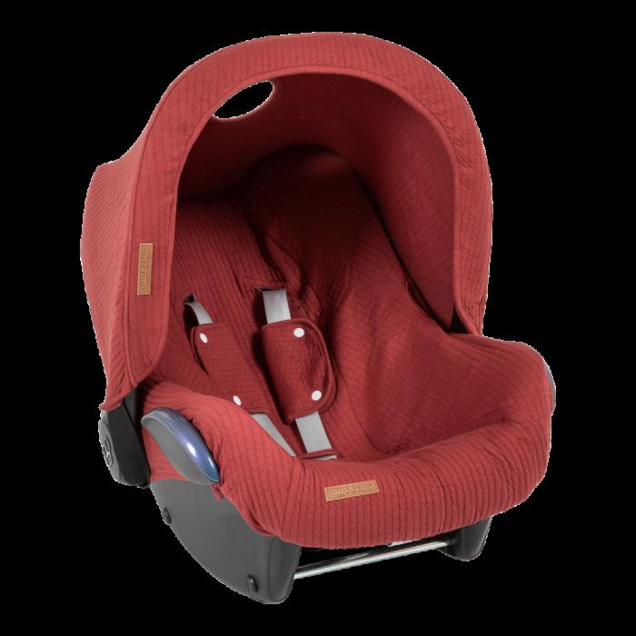 Parasolar pentru scaun auto - Pure Indian Red - Little Dutch