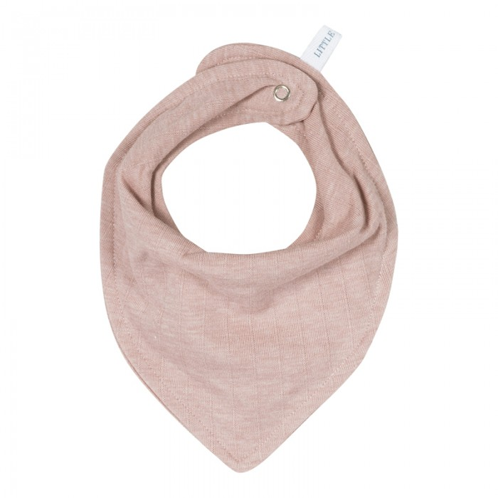 Baveta bandana dublata - Pure Pink - Little Dutch
