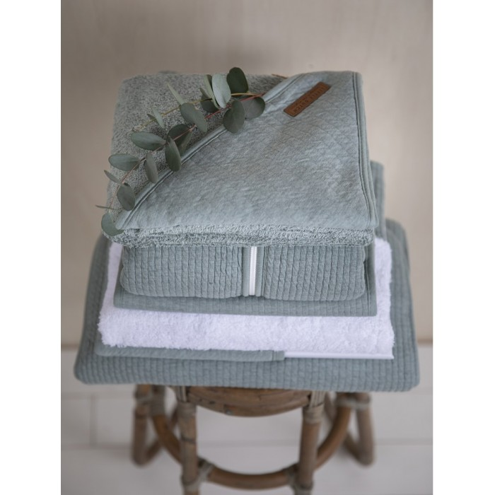 Muselina din bumbac - set 2 bucati - Pure Mint/Grey - Little Dutch