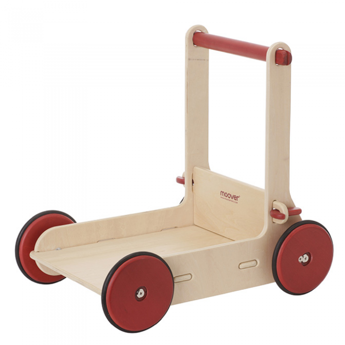 Antemergator/Premergator din lemn cu depozitare - Natur - Moover Toys