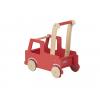 Carucior din lemn cu depozitare - masina de pompieri - gama LINE - Moover Toys