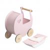 Lenjerie pentru caruciorul de papusi - Roz - Moover Toys