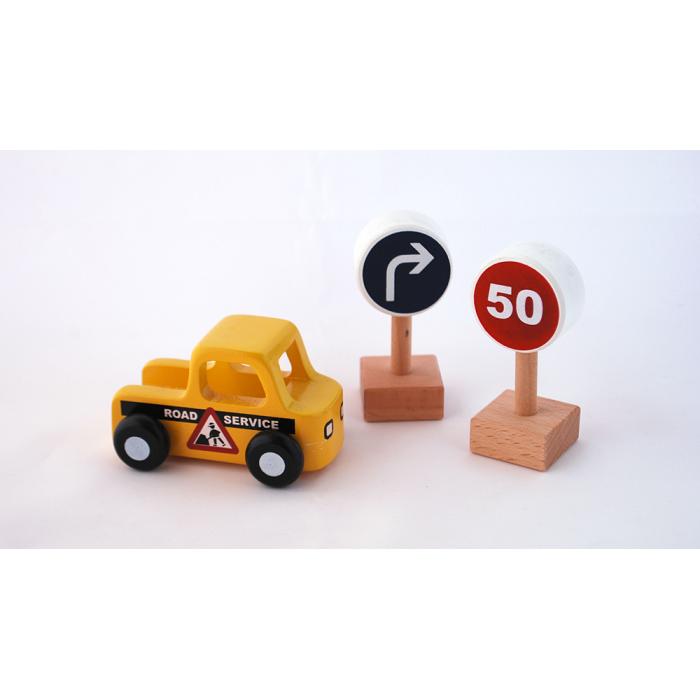 Masinuta din lemn - mentenanta drumuri - Moover Toys