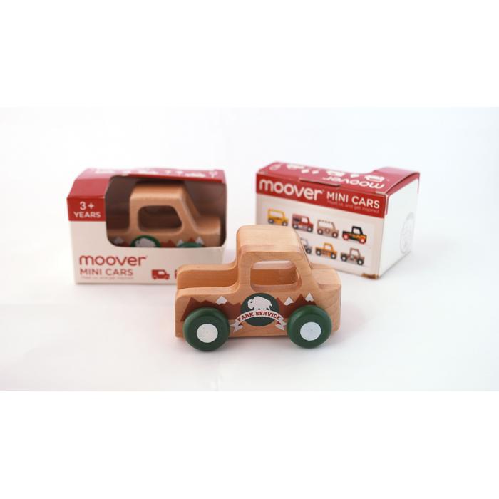 Masinuta din lemn - masina de padurar - Moover Toys