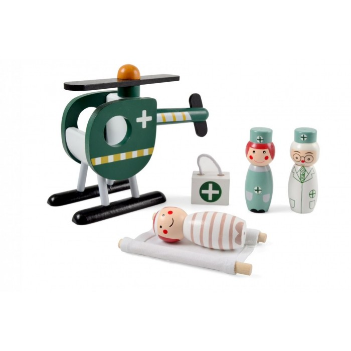 Elicopter salvare cu personal medical si pacient - Magni Toys