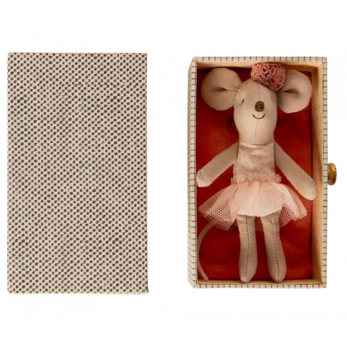 Jucarie textila - DANCING MOUSE IN DAYBED - LITTLE SISTER - Maileg